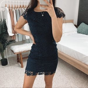 Lulu's - Navy Blue Romance Language Dress